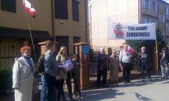 Protest przed ukraińskim konsulatem w Gdańsku